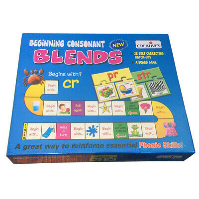 PHONICS CONSONANT BLENDS Educational PUZZLE Game LITERACY PHONETIC Reading