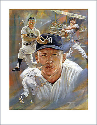 Clock Is Ticking SALE! MICKEY MANTLE Artist Proof Lithograph • Free Shipping