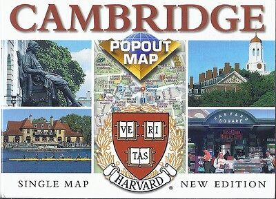 PopOut Map of Cambridge, England, Great Britain, UK