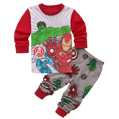 Baby Kids Boy Girl Nightwear T-shirt Tops+Pants Pajamas Sleepwear Outfit Clothes
