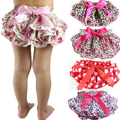 Baby Girl Kids Newborn Ruffle Bloomers Shorts Pants Toddler Nappy Cover Culotte
