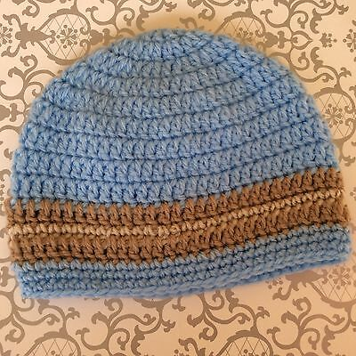 BABY BOYS OR GIRLS  CROCHET BEANIE  - 0 to 3 months  made in WA