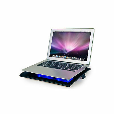 Ares N1 Notebook Laptop Cooling Pad Cooler 2 Fans USB Wired port Mat Black 15.4""