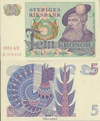 Sweden Pick-number: 51b uncirculated 1970 5 Kronor