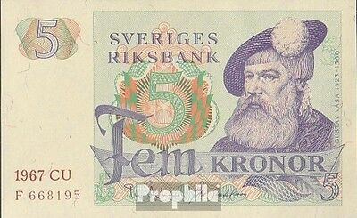 Sweden Pick-number: 51a (1967) uncirculated 1967 5 Kronor