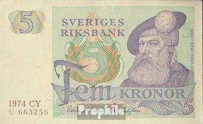 Sweden Pick-number: 51c (1974) uncirculated 1974 5 Kronor