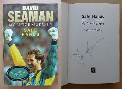 David Seaman Safe Hands My Autobiography Signed Copy - Arsenal & England (8352)