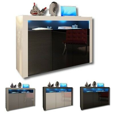 SALE! Modern Sideboard Cupboard Buffet - 3 Colors - LED RGB with Remote - HQ