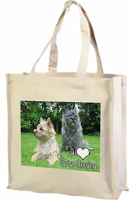 Cairn Terrier Cotton Shopping Bag, I Love Cairn Terriers - Choice of Colours!