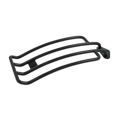"""Black 6"""" Rack for Harley-Davidson Dyna 1991-2005 with Solo Seat"""