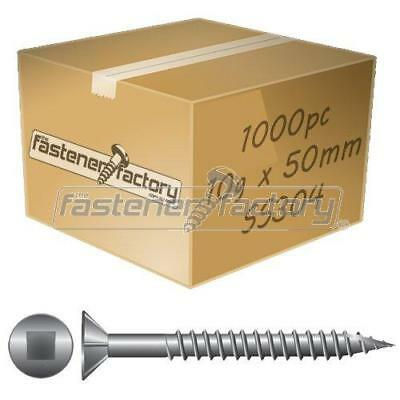 10g x 50mm Stainless Steel Timber Decking Screws 1000pc for Merbau/TreatedPine