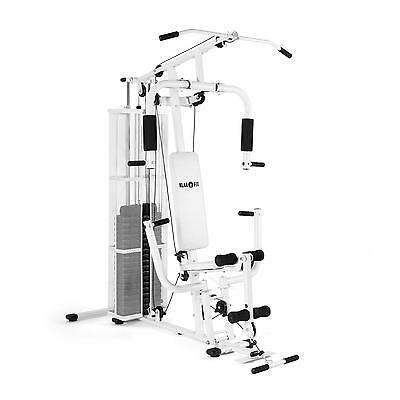 Home Multi Purpose Gym Station Professional Weight Power Steel Cable Sport White