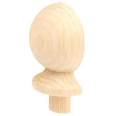 Pine Stair Parts Ball Top (HALF) for Newel Post Wall Side 90mm x 90mm