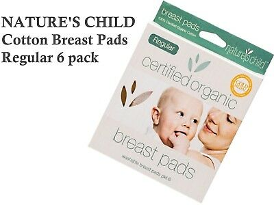 NATURES CHILD Regular Cotton Breast Pads 6 pack