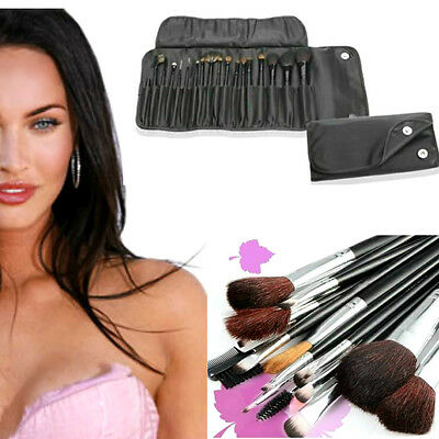 Set 18 pennelli Make Up Professionali + Pochette set Cosmetic Brush Trucco