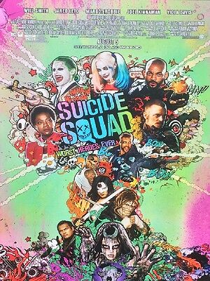 SUICIDE SQUAD ORIGINAL MOVIE POSTER DS 27X40 JOKER variant With AR-15