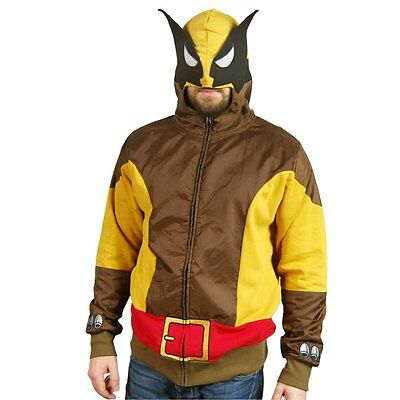 6a69c2ca MENS MARVEL COMICS Wolverine Costume Cosplay Hoodie With Face Mask ...