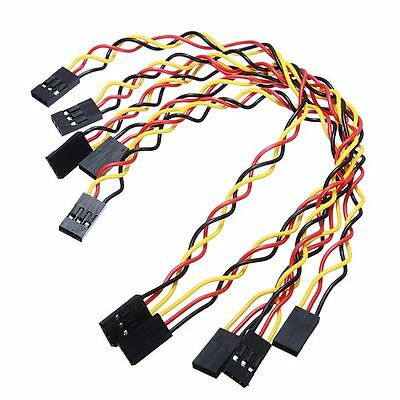 5 Pcs 3 Pin 20cm 2.54mm Jumper Wire Cables DuPont Line For Arduino USA SELLER