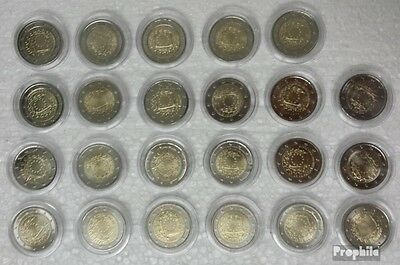 Europe 2015 23 Coins out 19 Countries mint UNC 2015 2 Euro set Europe flag