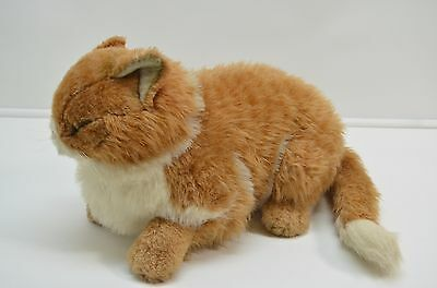 "Applause Tabby Cat Jockline Italy 1985 Orange Plush Tags Avanti 15"" Stuffed"