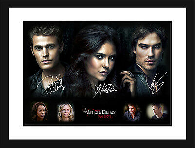 The Vampire Diaries Limited Edition Signed Framed Memorabilia