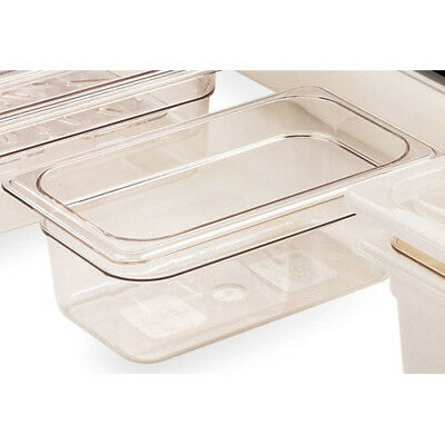 "Clear Food Pan, Third Size (6-15/16"" x 12-3/4"") Size 8"""