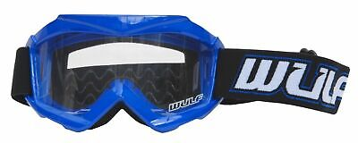 New Wulfsport Blue Kids Off Road Goggles Motocross Quad Youth Childs Pw Lt Yz