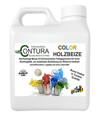 Colorbeize Holzbeize Farbbeize Holzfarbe Color 1/2,5 L Farben Beize Wasserbasis