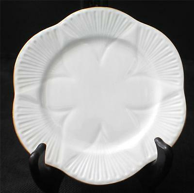 "Vintag SHELLEY Bone China England White Gold Trim REGENCY Pattern 8"" Salad Plate"
