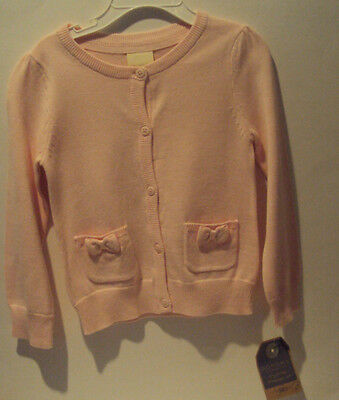 Toddler Girls Sonoma Life & Style Pink Sweater Bows Tiny Pockets Size 2T 3T 4T