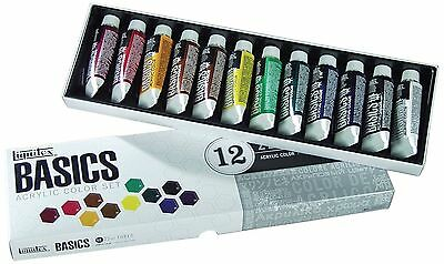 Liquitex Basics Acrylic Paint Set 12 x 22ml