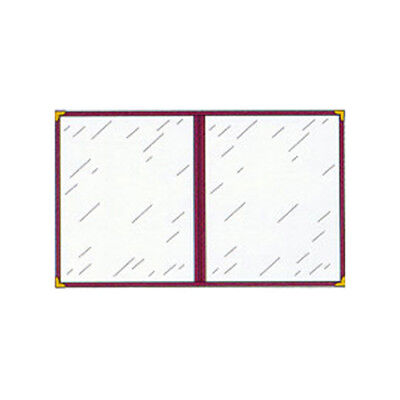 "Menu Cover, Double Pocket, Four Viewing Sides, 8-1/2"" x 11"" Color Red"