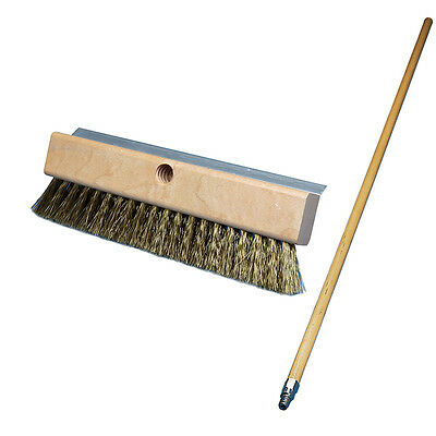 "Pizza Oven Brush, 10"" wide with 48"" Handle"