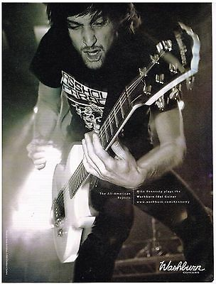 Washburn - Mike Kennerty of The All-American Rejects - 2007 Print Advertisement