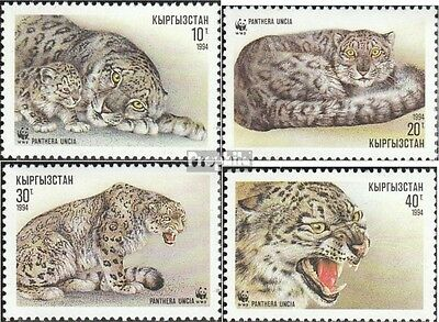 Kirgisistan 22-25 (complete.issue.) unmounted mint / never hinged 1994 snow leop