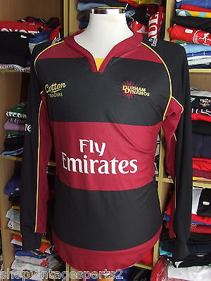 Cricket Shirt Durham Dynamos (S) Cotton Traders Jersey Long Sleeve CCC