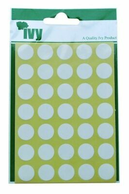White Dots 13mm Dot-Stickers Round Sticky Adhesive Spot Circles Paper Labels