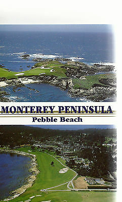 Aerial View   Pebble Beach and Monterey Peninsula   CA    Unused  Postcard 8184