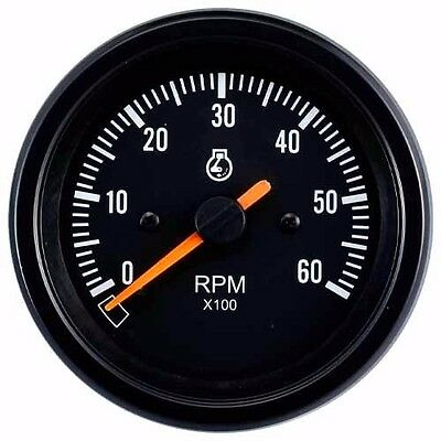 85mm auto gauge 0-6000 rpm Diesel Tachometer for marine yacht (Black Face)