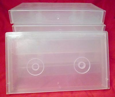 Lot of 6 Empty VHS Videotape Storage Cases Clear Opaque Clamshell