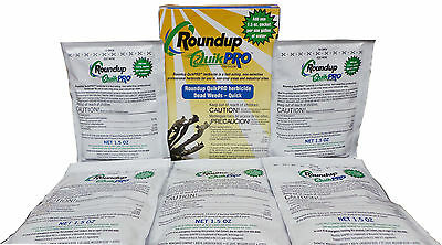 Roundup QuikPro Herbicide 73.3% QuickPro 5 Packets Included - Makes 5 Gallons.