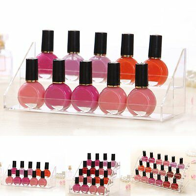 Nail Polish Acrylic Clear Makeup Display Stand Rack Organizer Holder 2/3/4 Tier