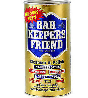 BAR KEEPERS FRIEND CLEANSER & POLISH  POWDER 340g STAINLESS STEEL/GLASS COOKTOPS