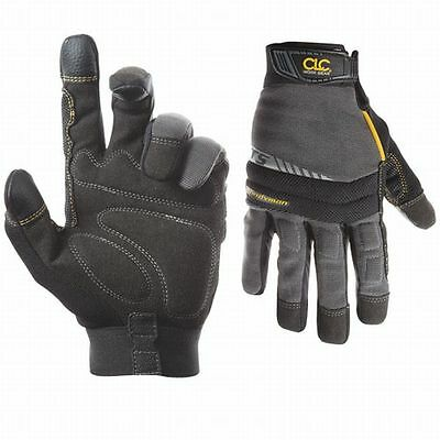 Work Gloves Custom Leather Craft Handyman Flex Grip Large 20030