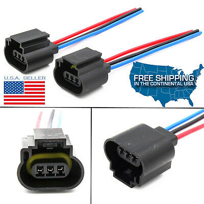 H13 9008 Wiring Harness Female Plug Headlight Pigtails Socket Connector 55W Ford