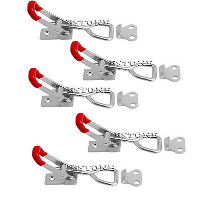 5Pcs Quick Toggle Clamp 100Kg 220Lbs Holding Capacity Latch Metal Hand Tool 4001