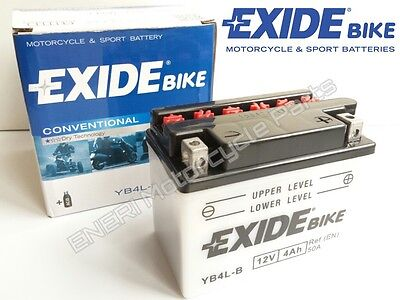 Exide Yb4L-B Motorcycle Scooter Atv Quad Battery 12V 4Ah *new*