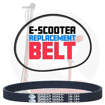 Kids Junior Electric Scooter Drive Belt For E-Scooter Scooters HTD384-3M-12