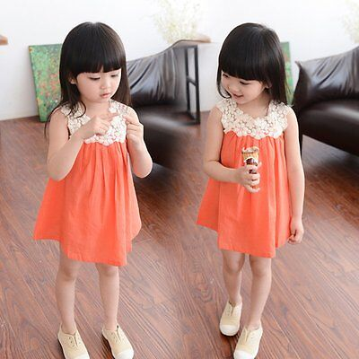 Flower Girls Toddler Summer Princess Dress Kids Baby Party Pageant Lace Dresses