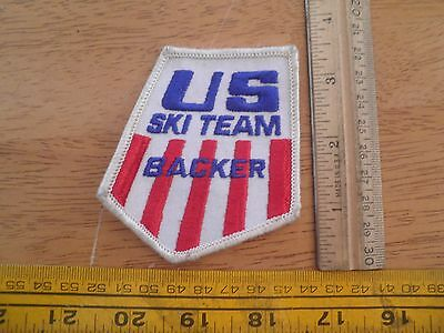 1980's US Ski Team Backer patch VINTAGE skiing